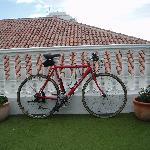 Rented bike on sun terrace