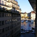 From our window, looking toward Strandvägen on Östermalm