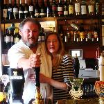 Alun and Lisa at The Hostelrie at Godrich