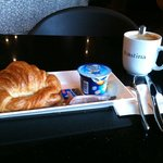 Good croissant and cofffee at Toastina.