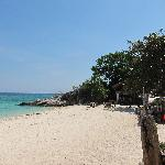 la plage devant l hotel