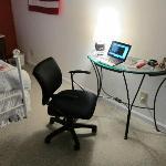 a little desk area