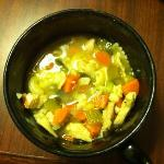 Yummy homemade chicken noodle soup was a delicious offering for a complimentary dinner!
