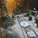 japanese garden in the lobby