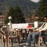 On terrace of Manali nest