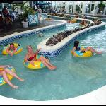 Indoor (seasonally heated) lazy river ride!