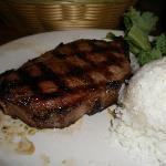 ローンスターのステーキです