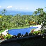 view of infinity pool and Gulfo Dulce