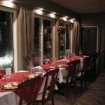 Dining Terrace decked out for Christmas