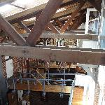 View inside the boatshed from balcony