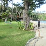 beach directly in front of villa