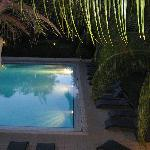piscine vue du balcon de la chambre