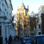 A view from the hotel entrance towards the Natural History Museum