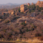 Big Cave lodge borders the Matobo Hills National park, and blends into the natural surroundings