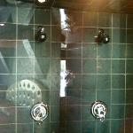 douche double vitrée
