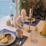 Candle lit breakfast