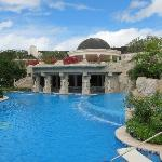 Gorgeous pool and spa at Sandy Lane