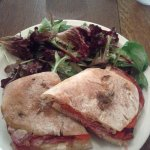 Angry Sicilian Grilled Sandwich & Salad