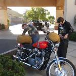 The staff is motorcycle friendly!