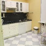 Kitchen is large and fully equiped for a long stay