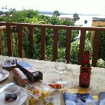 Enjoy local produce on the verandah