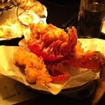 Steak fried lobster