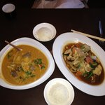 Red Curry Beef and Chicken With Cashew Nut