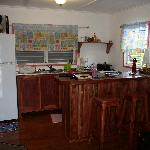 Kitchen area of our cabana