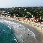View of Kovalam Beach from the lighthouse