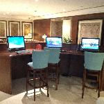 Sheraton Khalidiya computers for guests in lobby