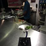 Martini at the bar.