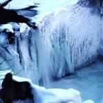 The Frozen Cheakamus River at Whistler Train Wreck