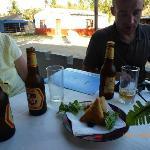 Chamusas in der Gsatstätte Inhaca Dorf