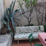 La terraza de la habitaición
