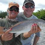 One of many Redfish caught with Capt. Lacey Rush