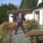 me posing on the rear terrace