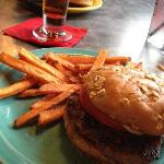My wife's Toga Burger and Sweet Potato Fries