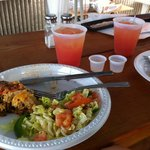 Spanish quiche, Rum Punch & ChiChau