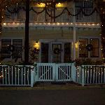 Front of Inn at Christmas