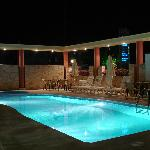 pool area in night view