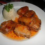 Pork with sweet chilli sauce