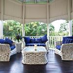 Wide verandahs with river views