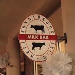 Ronnybrook Milk Bar Sign