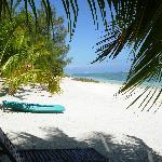 Right outside villa, kayak use