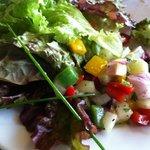 salads from buffet