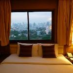 Enjoyed the bed with a view!