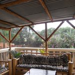 Covered Veranda During a Storm
