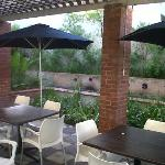 Lovely outside patio area