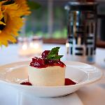 Cheesecake with Lakeview Orchard Strawberries -- Photo credit Nathaniel Johnston