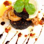 Black pudding and scallop